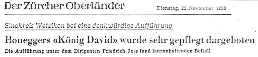 "Presse ""König David"""