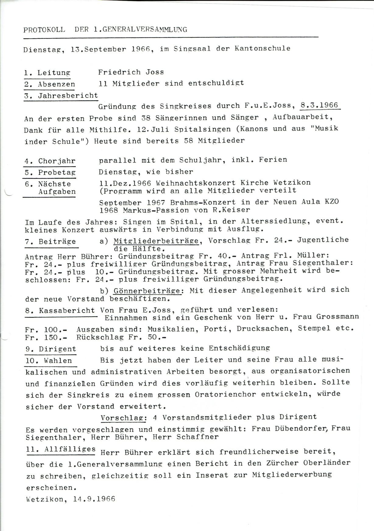 Protokoll 1.GV 1966
