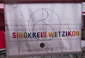 Singkreis-Flagge Weihnachtsmarkt