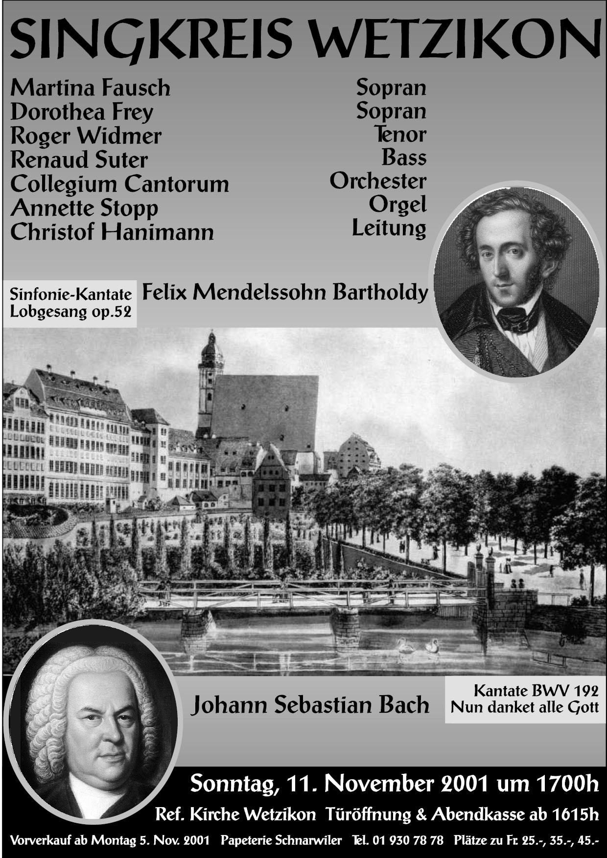2001 MendelssohnBartholdy, J.S.Bach