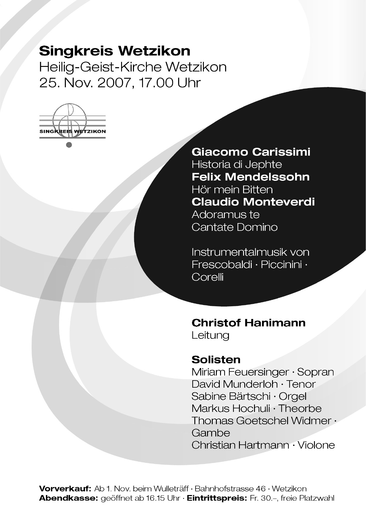 2007 Carissimi, Mendelssohn, Monteverdi