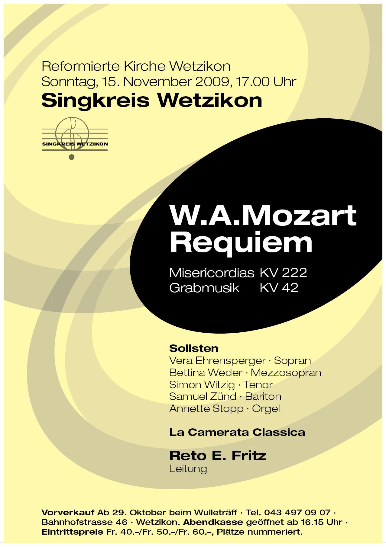 2009 Requiem Mozart