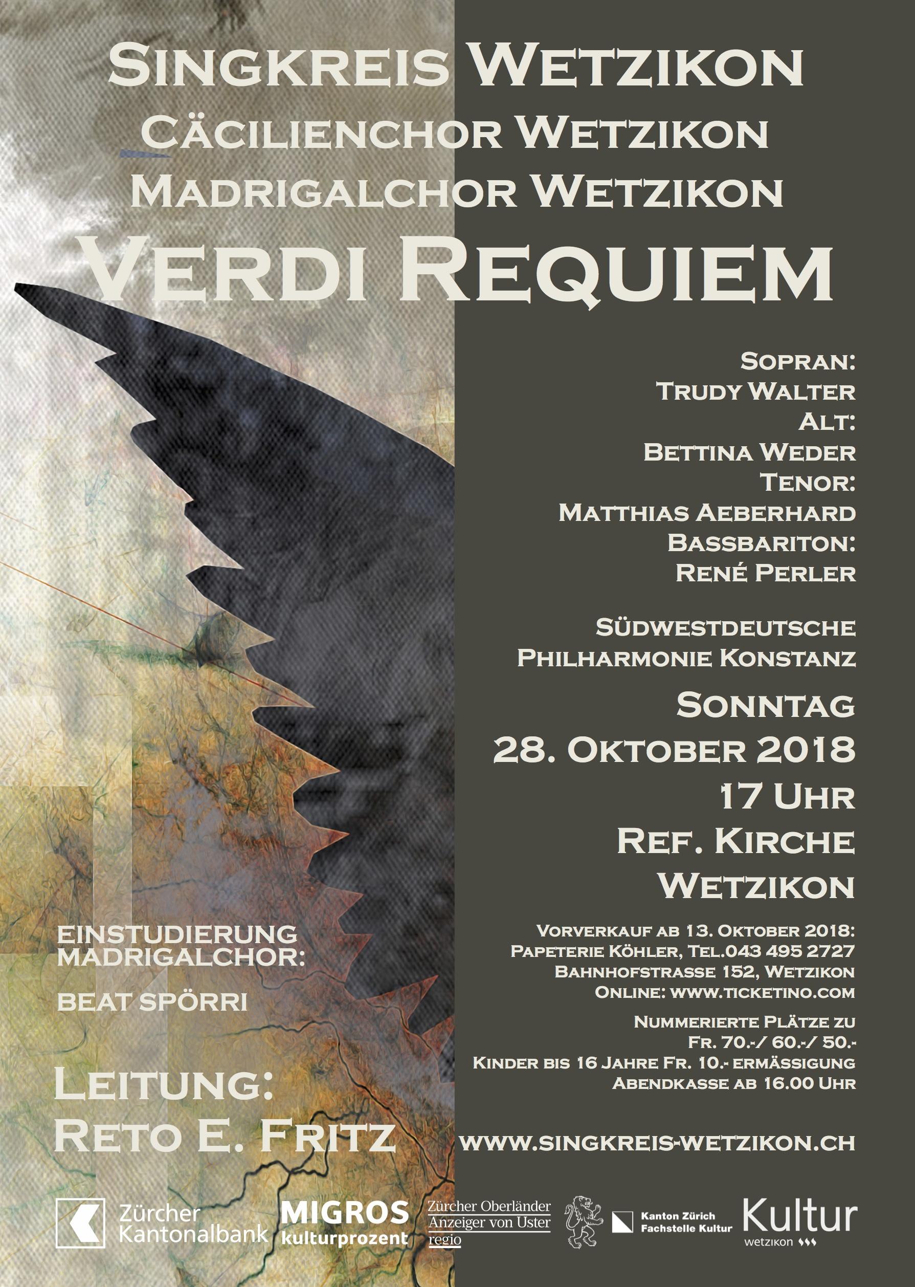 Flyer Verdi Requiem 2018