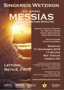 Flyer Messiah 2019